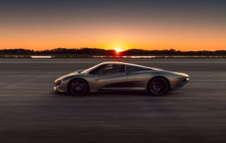 McLaren Speedtail high speed runs at Kennedy Space Center