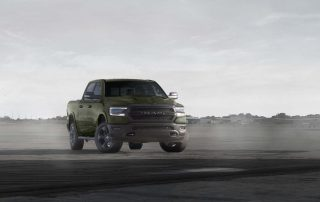 2021 Ram 1500 Built to Serve Edition front 3/4 - Tank