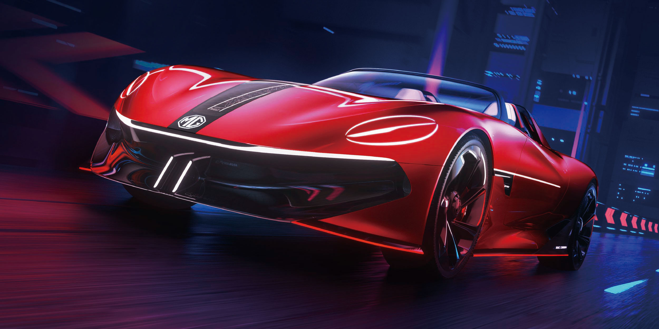 The MG Cyberster – striking sports concept to debut at Shanghai Show